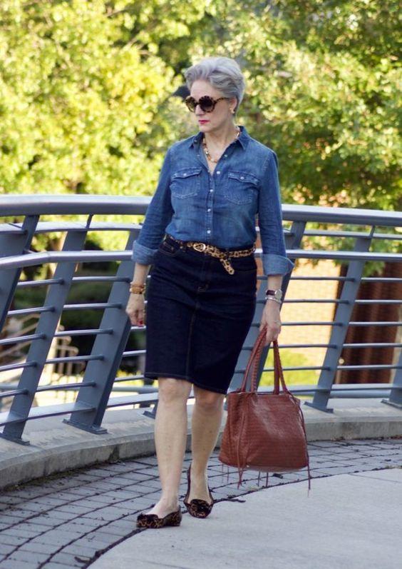 Джинсовый стиль для женщины 50 лет